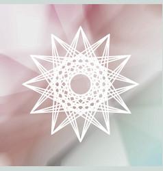tribal modern sign over blurred background vector image vector image