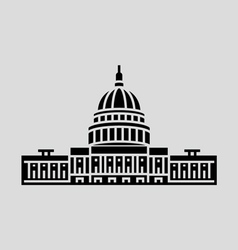 United states capitol vector