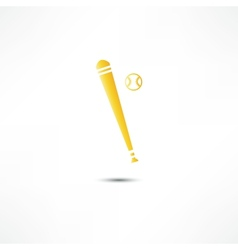 Baseball And Bat Icon vector image