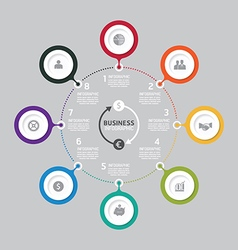 Business data process chart Abstract elements vector image