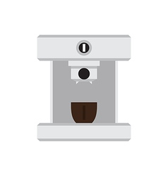 Coffee machine with cup in love heart illus vector image