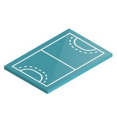 icon playground handball in isometric vector image