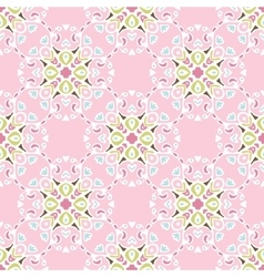 pink flourishSeamless pattern vector image vector image