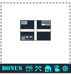 Sending Box icon flat vector image