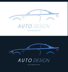 sport coupe car logo vector image