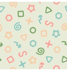 The Pattern of Colored Elements vector image vector image