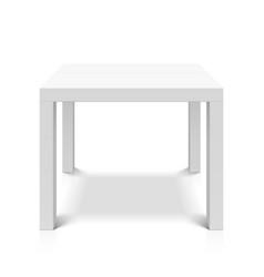 white empty square table vector image