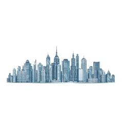 City skyline isolated on vector image