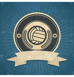 Retro Volleyball Emblem vector image