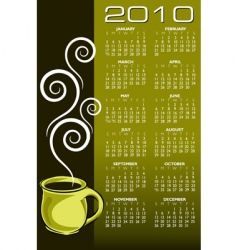 2010 coffee calendar vector