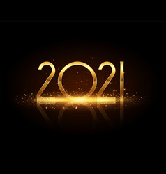 2021 new year golden sparkles wishes greeting vector