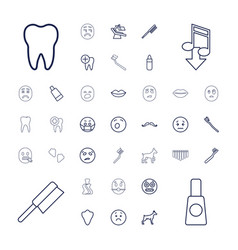 37 mouth icons vector