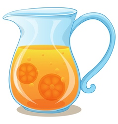 A pitcher of orange juice vector