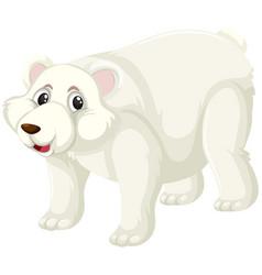 a polar bear character vector image