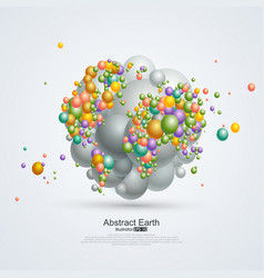 Abstract planet Composition of balloons vector
