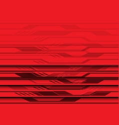 Abstract red circuit light futuristic design vector
