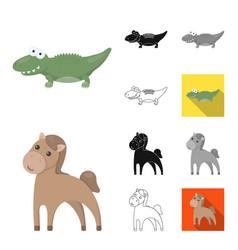an unrealistic animal cartoonblackflat vector image