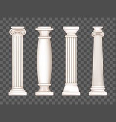 ancient white marble greek columns vector image