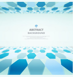 Art of blue molecules abstract background for vector