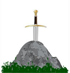 arthurs sword vector image