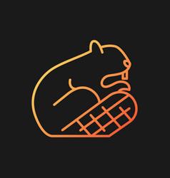 Beaver gradient icon for dark theme vector