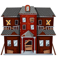 Big house with bad condition vector