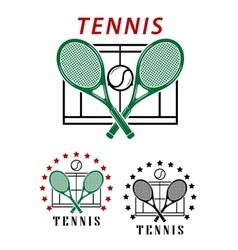 Big tennis emblems or badges vector