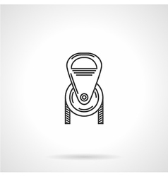 Black line pulley icon vector image