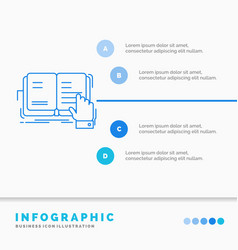 Book lesson study literature reading infographics vector