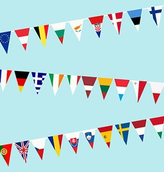 Bunting of flags from european union vector