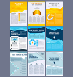 Business brochure flyers annual report magazine vector