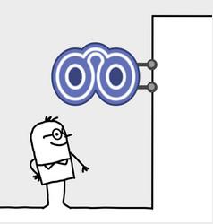 cartoon consumer shop sign - optician vector image