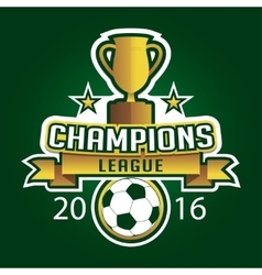 Champion soccer league logo emblem badge graphic vector