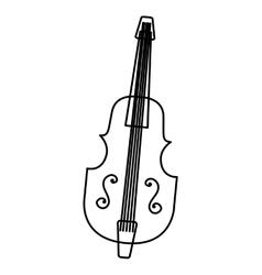 chello instrument isolated icon vector image