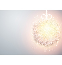 Christmas ball light abstract background vector image