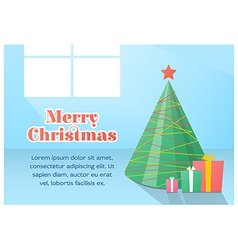 Christmas card flat design vector