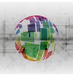 Colorful Globe Design vector image