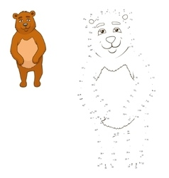 connect dots to draw animal educational game vector image