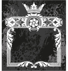 Decorative frame with crown vector