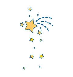 Decorative stars icon vector