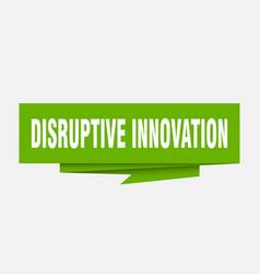 Disruptive innovation vector