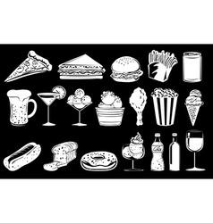 Doodle design of foods vector