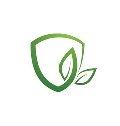 eco shield design vector image