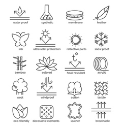 Fabric feature icons vector