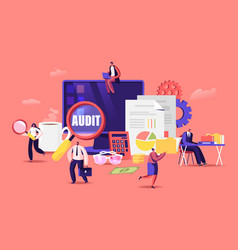 financial administration and audit concept vector image