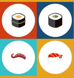 Flat icon sashimi set of sashimi gourmet sushi vector
