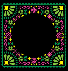 folk greeting card mexican style wedding vector image