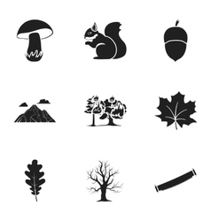 Forest set icons in black style big collection of vector
