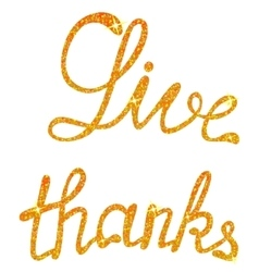 Give thanks lettering tinsels vector