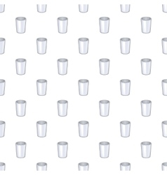 Glass cup pattern cartoon style vector